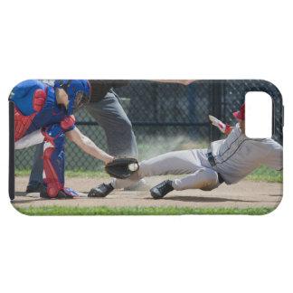 Baseball player sliding into home plate tough iPhone 5 case