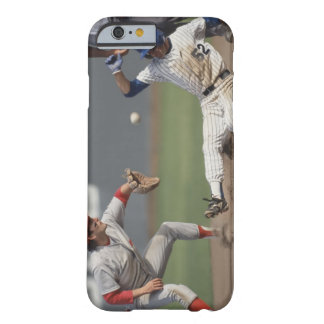 Baseball player sliding into third base with barely there iPhone 6 case