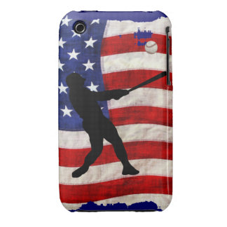 Baseball Player Sports Ball Game US Flag iPhone 3 Case