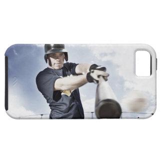 Baseball player swinging baseball bat 2 tough iPhone 5 case