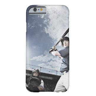 Baseball player swinging baseball bat barely there iPhone 6 case