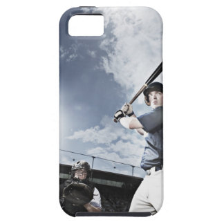 Baseball player swinging baseball bat case for the iPhone 5
