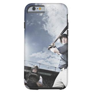 Baseball player swinging baseball bat tough iPhone 6 case