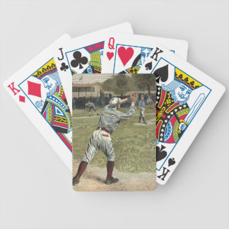 Baseball Player Thrown Out at Second Base Bicycle Playing Cards