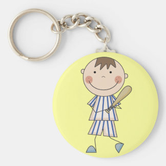 Baseball Player Tshirts and Gifts Basic Round Button Key Ring