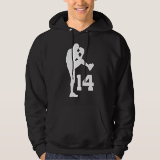 Baseball Player Uniform Number 14 Gift Hoodie