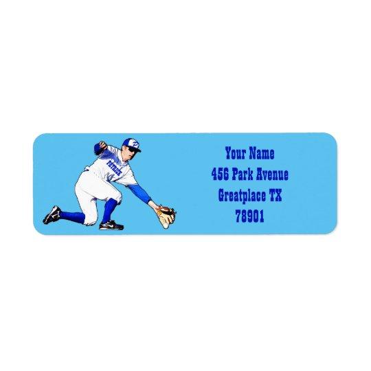 Baseball Player With Your Name Or Monogram Return