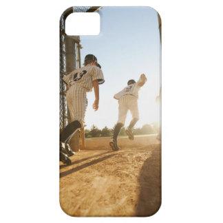 Baseball players (10-11) entering baseball iPhone 5 cases