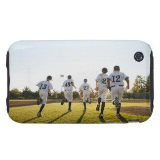 Baseball players (10-11) running on baseball iPhone 3 tough covers