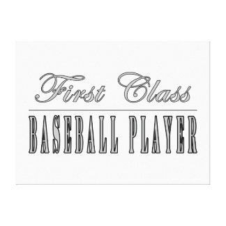 Baseball Players First Class Baseball Player Gallery Wrap Canvas