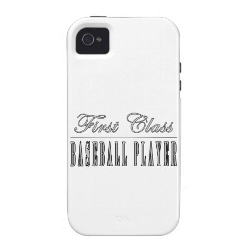 Baseball Players : First Class Baseball Player Case-Mate iPhone 4 Cases
