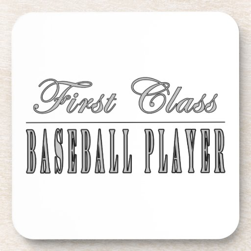 Baseball Players : First Class Baseball Player Drink Coasters