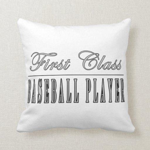 Baseball Players : First Class Baseball Player Throw Pillows