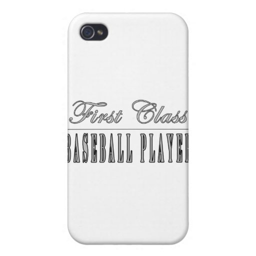 Baseball Players : First Class Baseball Player iPhone 4/4S Cases