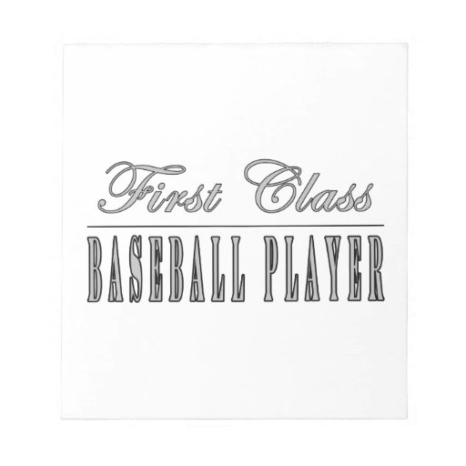 Baseball Players : First Class Baseball Player Memo Note Pads