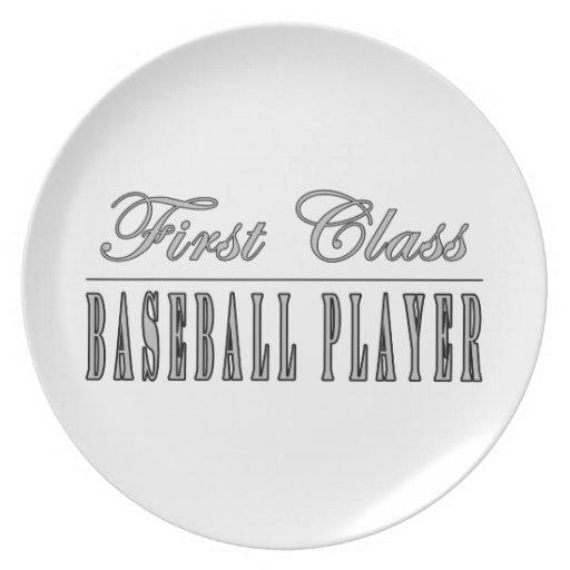 Baseball Players : First Class Baseball Player Dinner Plates