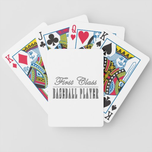 Baseball Players : First Class Baseball Player Playing Cards