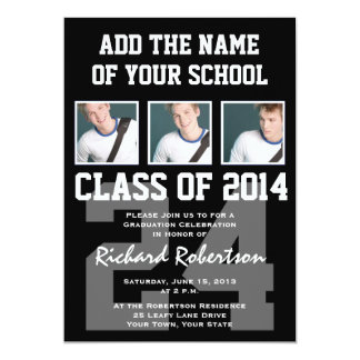 Baseball Player's Graduation Class of 2014 Varsity 13 Cm X 18 Cm Invitation Card