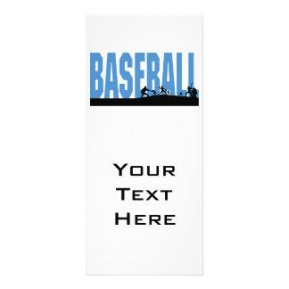 baseball players text design rack card template