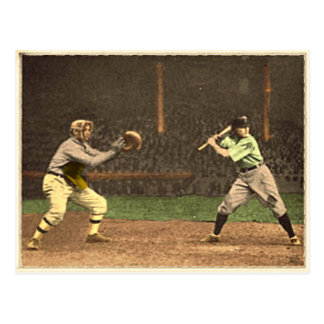 Baseball Postcard In Vintage Style