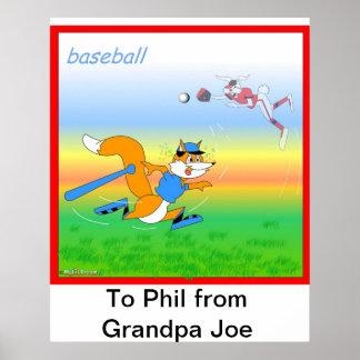 Baseball poster for kids