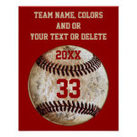Baseball Posters, Team Colours, Team, Player's