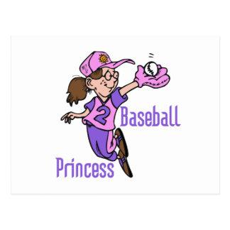 Baseball Princess T shirts and Gifts Postcard