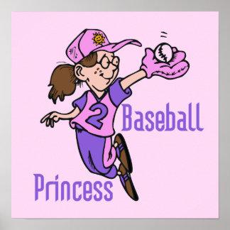 Baseball Princess T shirts and Gifts Posters