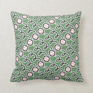 Baseball print throw pillow | Sports decor cushion