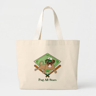 Baseball Puggy Tote/Beach Bag - green hat