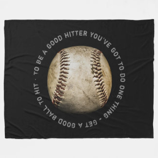 Baseball Quotes | Sport Cool Gifts Fleece Blanket