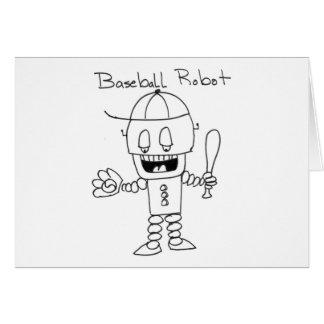 Baseball Robot Greeting Card