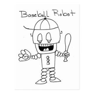 Baseball Robot Postcard