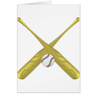 Baseball rocks greeting card