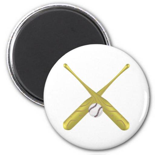 Baseball rocks magnets