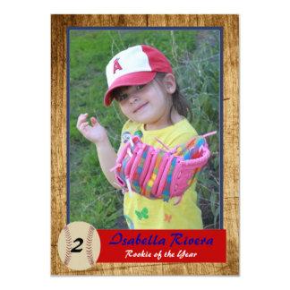 Baseball Rookie Card Birthday Invite
