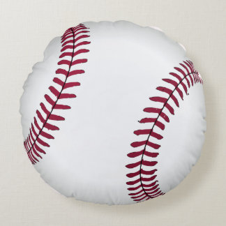 Baseball Round Bed Throw Pillow Boy's Room