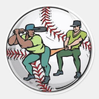 Baseball Round Sticker