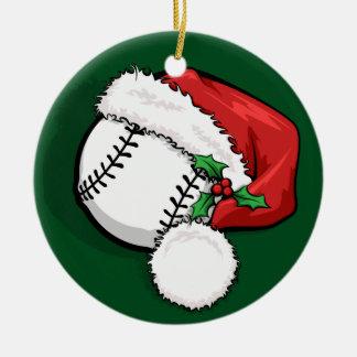 Baseball  Santa Cap Christmas Ornament