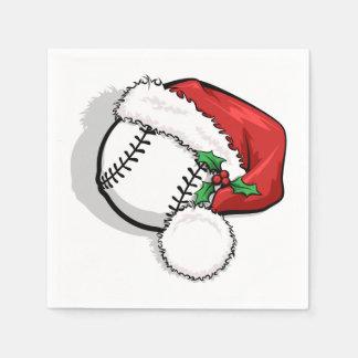 Baseball Santa Cap Paper Napkin