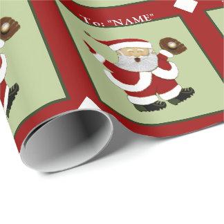 Baseball Santa Wrapping Paper