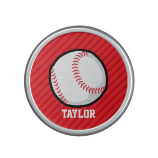 Baseball; Scarlet Red Stripes Bluetooth Speaker