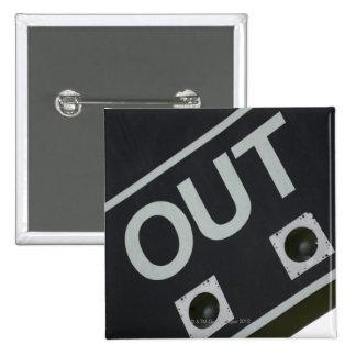 Baseball scoreboard 15 cm square badge