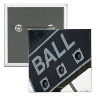 Baseball scoreboard 2 15 cm square badge