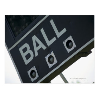 Baseball scoreboard 2 postcard