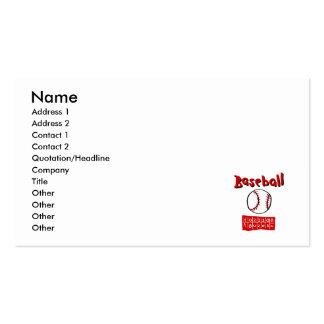 Baseball & Scoreboard Pack Of Standard Business Cards