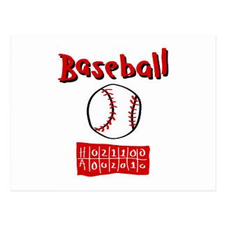 Baseball & Scoreboard Postcard