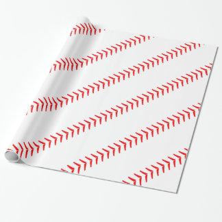 Baseball Seams/Stitches Baseball Party Gift Paper