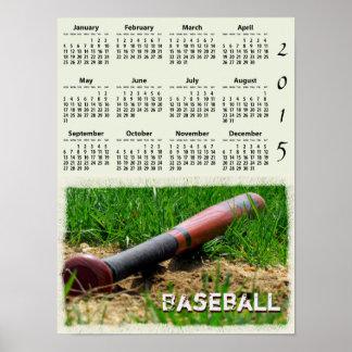 Baseball Season 2015 Wall Calendar Poster