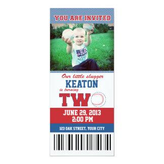 Baseball Second Birthday Card